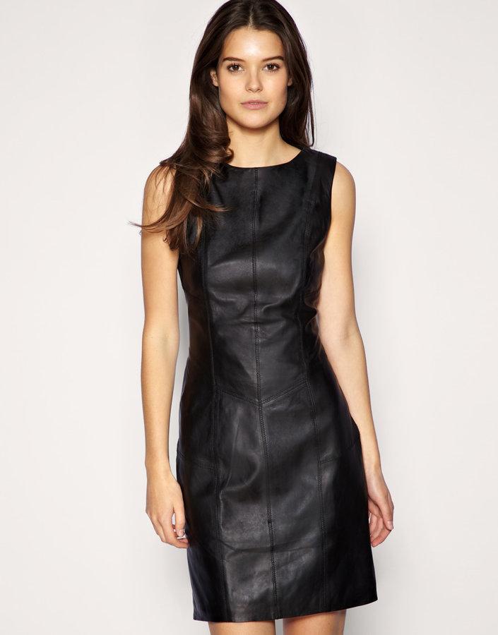 Oasis Leather Mini Dress