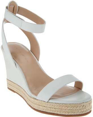 Halston H By H by Leather Espadrille Wedges - Gene