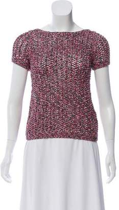 Chanel Knit Short Sleeve Top
