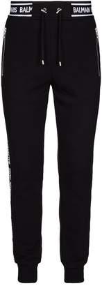 Balmain Logo Stripe Sweatpants