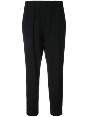 Josie Natori tapered cropped trousers