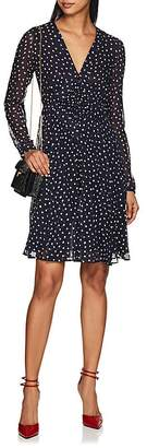 Derek Lam Women's Dot-Print Smocked-Front Silk Dress