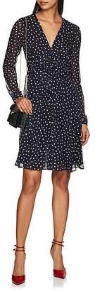 Derek Lam Women's Dot-Print Smocked-Front Silk Dress
