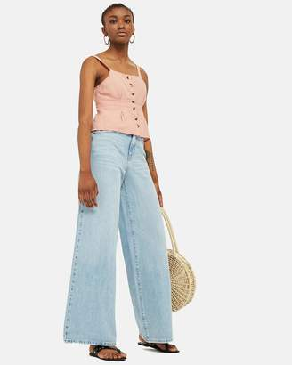 Topshop Structured Button Camisole Top