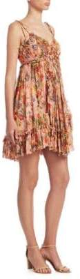 Zimmermann Lovelorn Silk Floral Babydoll Dress