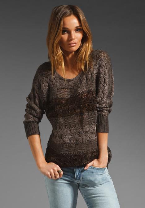 Alice + Olivia Hayden Dolman Sleeve Sweater