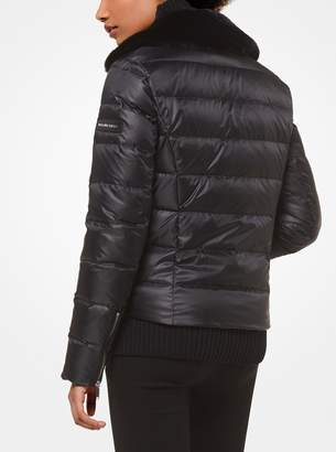 MICHAEL Michael Kors Satin and Faux Fur Puffer Jacket