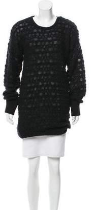 Alexandre Plokhov Open Knit Longline Sweater