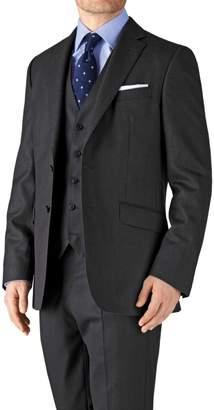 Charles Tyrwhitt Charcoal Classic Fit Birdseye Travel Suit Wool Jacket Size 38
