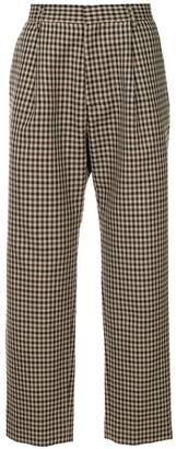 H Beauty&Youth check tailored trousers