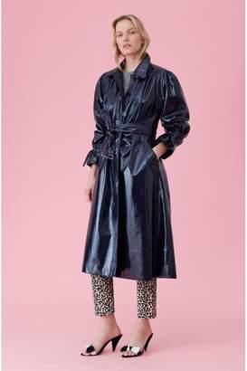 Rebecca Taylor Laminated Trench Coat