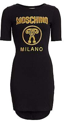 Moschino Women's Graphic Logo Tee Dress