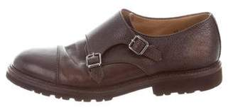 Brunello Cucinelli Leather Double Monk Strap Shoes