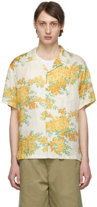 John Elliott Off-White Bougainvillea Bowling Short Sleeve Shirt
