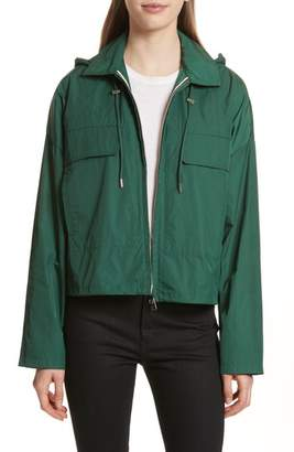 Theory Active Twill Crop Hooded Jacket
