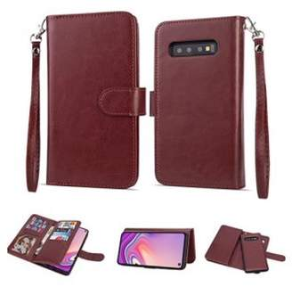 """Hlc 2 in 1 Leather Wallet Case with 9 Credit Card Slots and Removable Back Cover for Galaxy S10 (6.1"""")"""