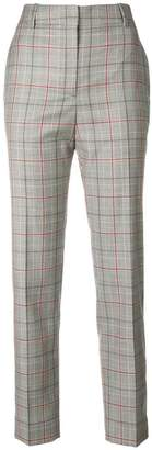Calvin Klein contrast panel checked trousers