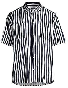 Wesc Men's Nima Uneven Stripe Button-Down Shirt