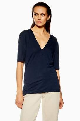 Topshop Deep V T-Shirt by Boutique