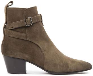 Marc Ellis Military Green Suede Ankle Boots