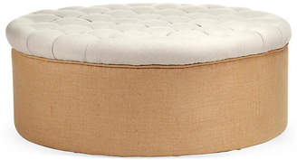 One Kings Lane Selina Tufted Cocktail Ottoman - Cream