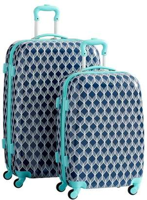 Pottery Barn Teen Hard-Sided Navy/Pool Bryn Luggage Bundle, Set of 2