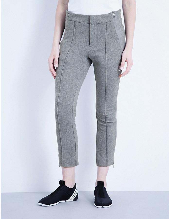 Y3 Frost cropped cotton-jersey trousers