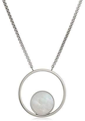 Skagen Women's Agnethe -Tone Mother-of-Pearl Pendant Necklace