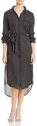 Elan International Striped Tie-Waist Shirt Dress