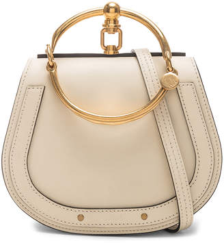 Chloé Small Nile Bracelet Bag Calfskin & Suede in Off White | FWRD