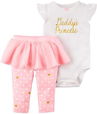 Carter's Daddy's Princess Short Sleeve Bodysuit & Tutu Legging 2 Piece Set - Baby Girl NB-24M