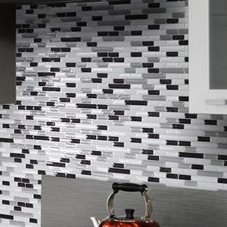 Smart Tiles Mosaik Muretto Alaska 10.20 x 9.10 Peel & Stick Wall Tile in Charcoal, White & Gray