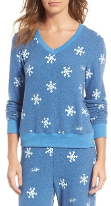 Women's Wildfox Baggy Beach Jumper - Winter Wonderland V-Neck Pullover $98 thestylecure.com