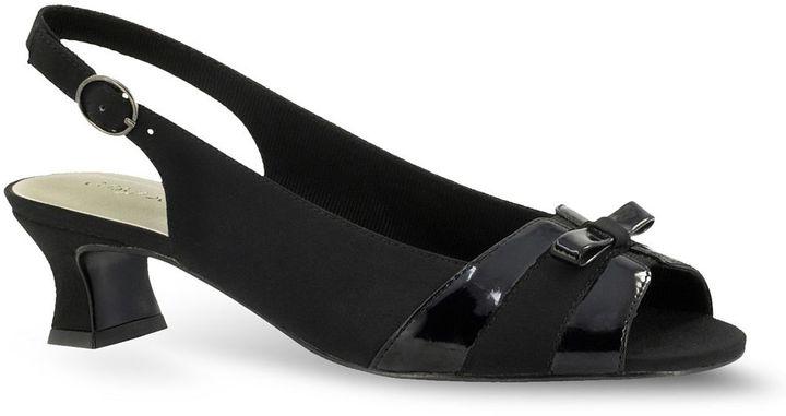 PeepToe Easy street alder peep-toe slingback dress heels - women