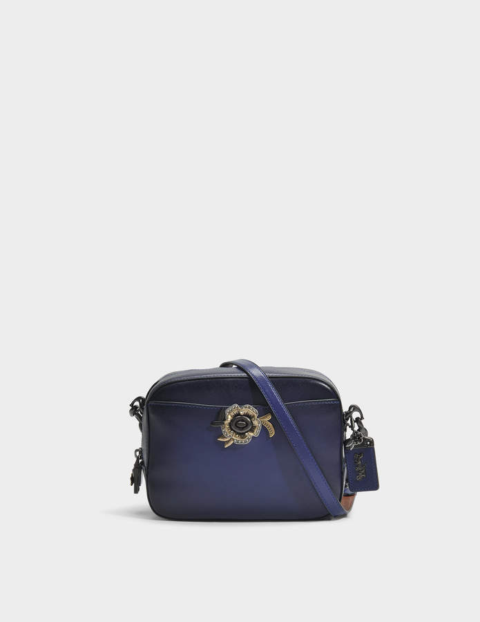 Camera Bag in Dark Royal Leather Coach 1ze5mkQAo