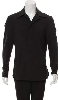 CNC Costume National Woven Button-Up Shirt