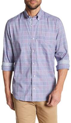 Tailorbyrd Plaid Long Sleeve Woven Button Shirt