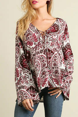 Umgee USA Red Paisley Bell