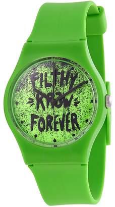 KR3W Freshman Neon Green Plastic Ladies Watch