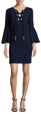 Trina Turk Xandra Crepe Lace-Up Dress $295 thestylecure.com
