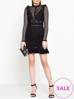 GUESS Jacqueline Long Sleeve Mesh Dress