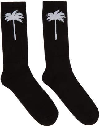 Palm Angels Black Palm Socks