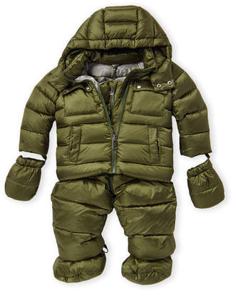 ADD Infant Boys) 4-Piece Down Jacket & Overalls Set