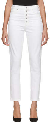 Citizens of Humanity White Olivia Exposed Fly Jeans