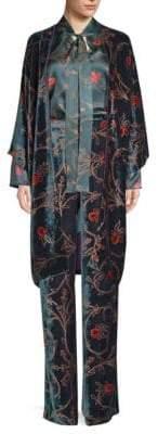 Etro Kesa Velvet Floral Kimono Jacket