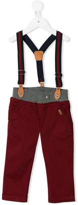 Lapin House slim-fit suspender trousers