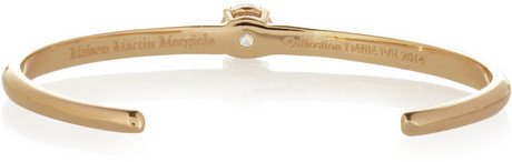 Maison Martin Margiela Gold-tone cubic zirconia bracelet