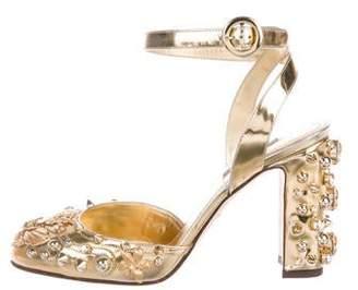 Dolce & Gabbana Leather Spike Pumps