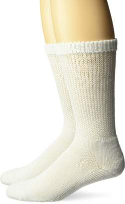 Dr. Scholl's Unisex-Adults Plus 2 Pack Diabetes and Circulatory Crew Socks with Grippers