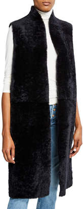 Gushlow and Cole Reversible Leather & Shearling Extra-Long Vest